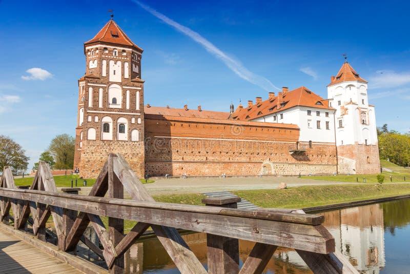 Mirskij城堡 城市Mir 迟来的 库存图片