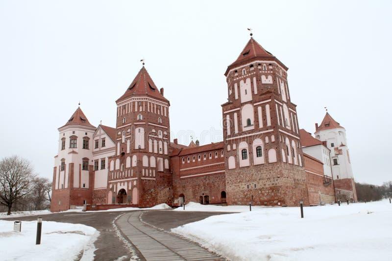 Mirsky slottkomplex royaltyfria bilder