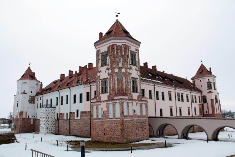 Mirsky slottkomplex arkivfoton
