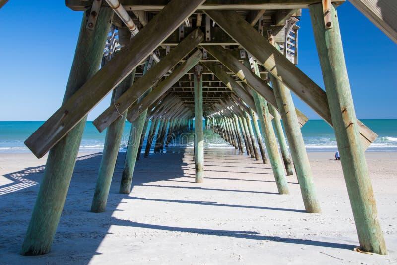 Mirt plaża, Południowa Karolina stanu parka połowu molo zdjęcie royalty free