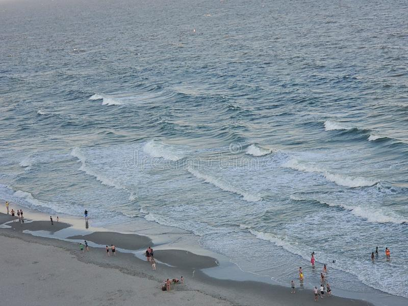 Mirt plaża przy wschód słońca oceanu dennego seashore pięknym wschód słońca zdjęcia stock