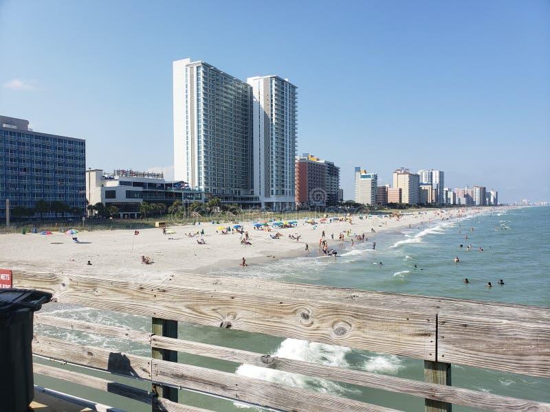 Mirt plaża 4th Lipiec fotografia stock