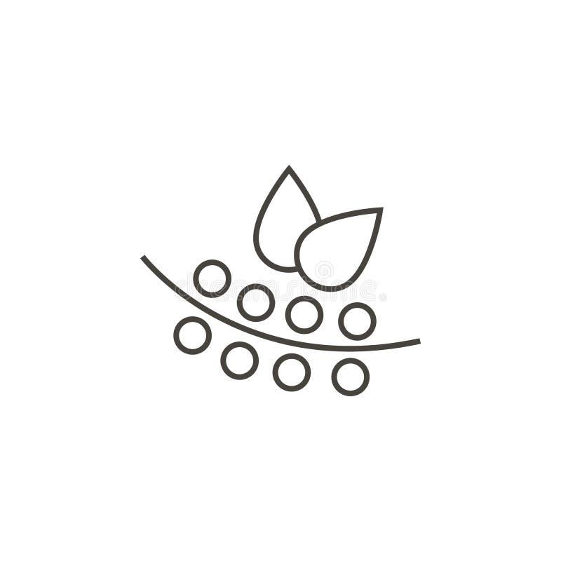 Mirtilli, icona di vettore dei mirtilli Illustrazione semplice dell'elemento dal concetto dell'alimento Mirtilli, icona di vettor illustrazione di stock