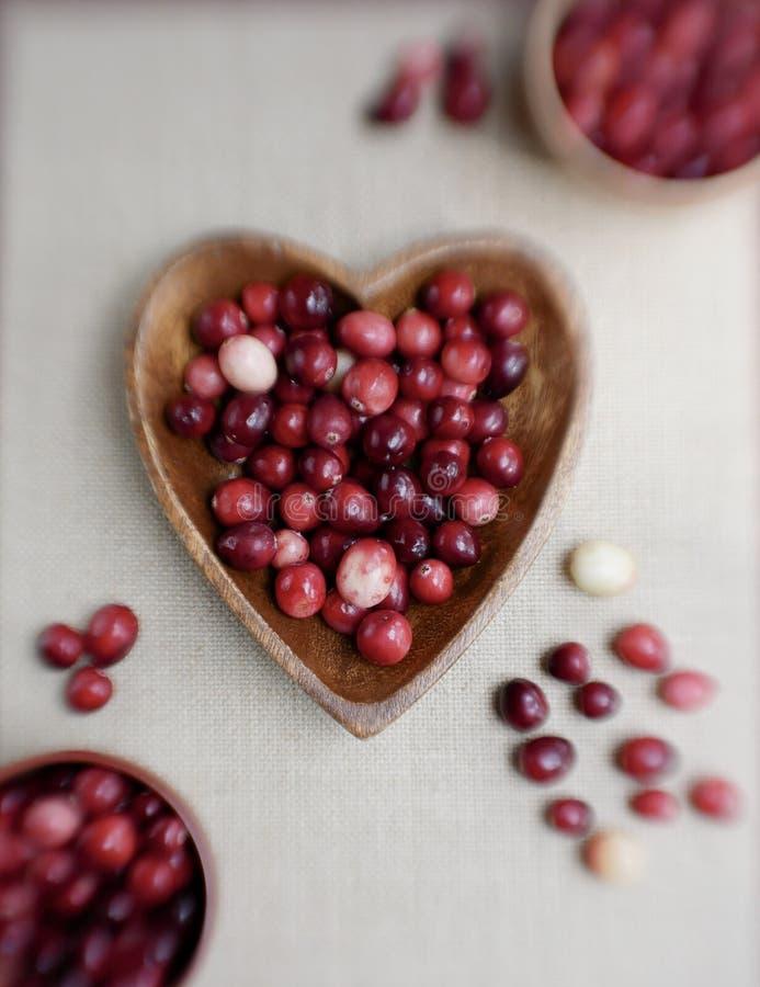 Mirtilli rossi sani del cuore immagini stock