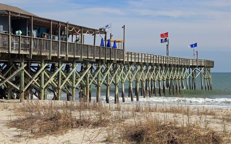 Mirtu Południowa Karolina Plażowy molo zdjęcie stock