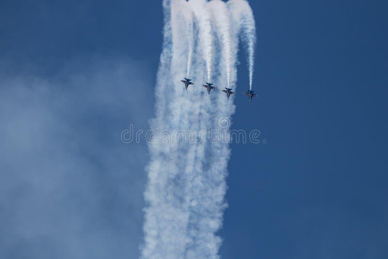 Mirtu Południowa Karolina Plażowy pokaz lotniczy z Błękitnymi aniołami obrazy stock