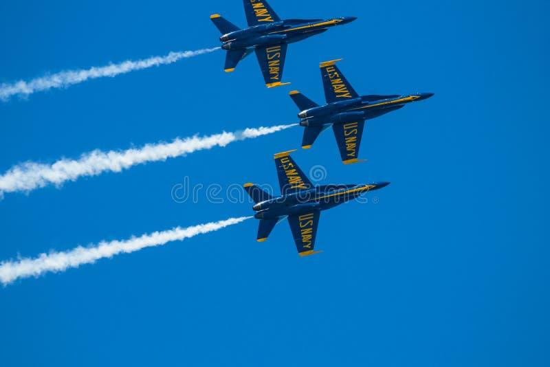 Mirtu Południowa Karolina Plażowy pokaz lotniczy z Błękitnymi aniołami zdjęcia stock