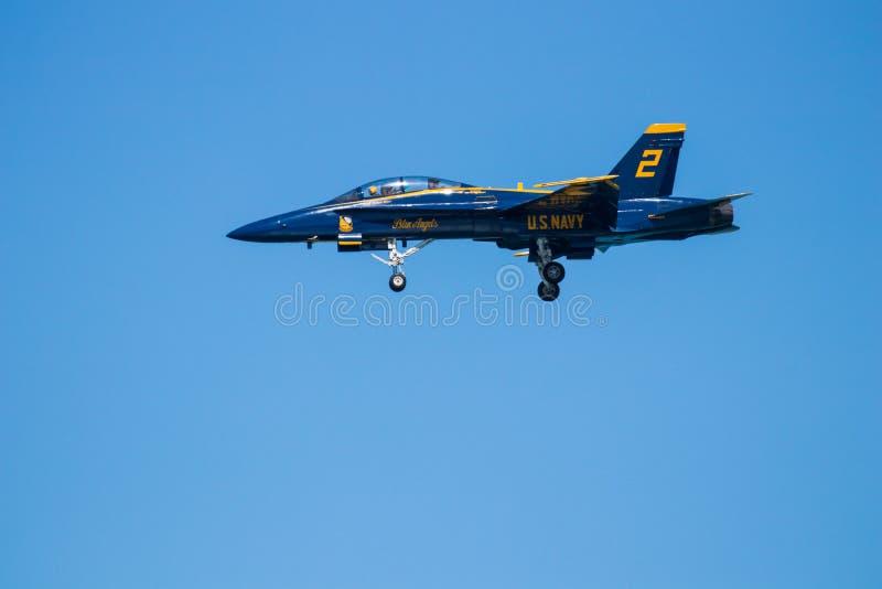 Mirtu Południowa Karolina Plażowy pokaz lotniczy z Błękitnymi aniołami obraz royalty free