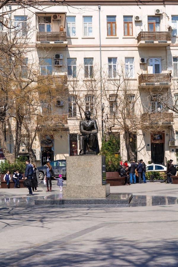 Mirza Fatali Akhundov momument fotografia stock