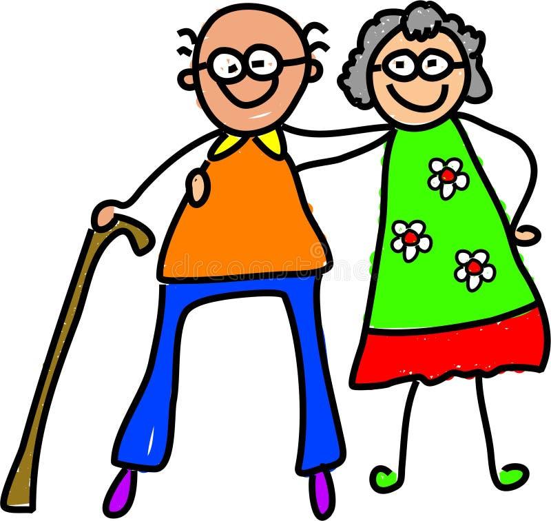Mis abuelos stock de ilustración