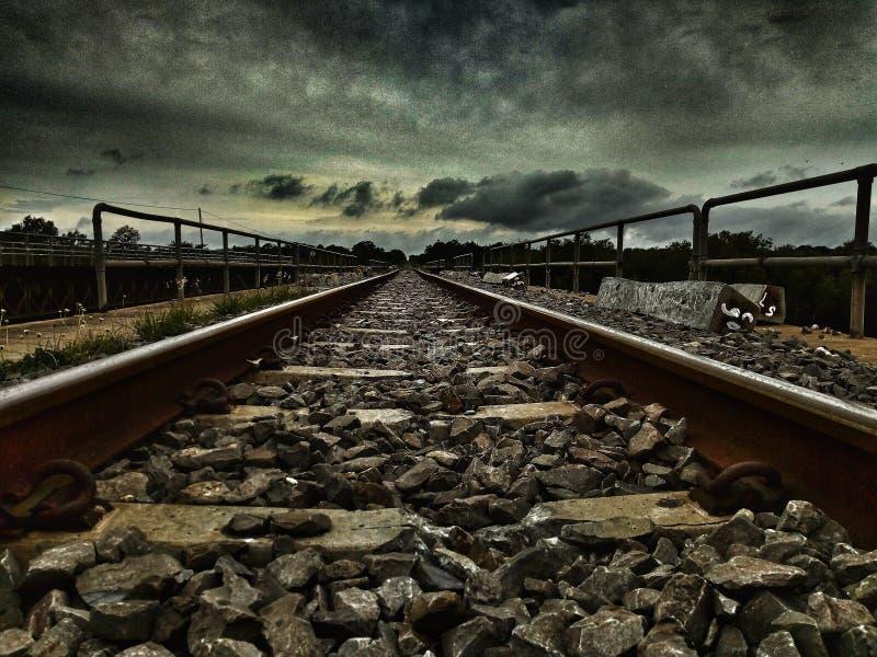 Mis fotos de las vías del tren foto de archivo