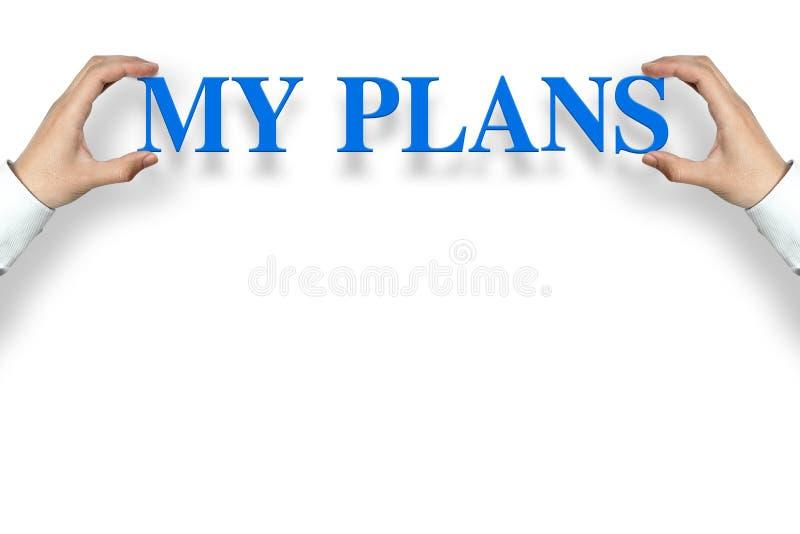Mis planes fotografía de archivo
