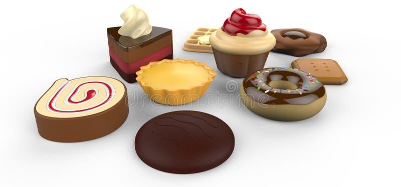 Mis tortas deliciosas preferidas foto de archivo