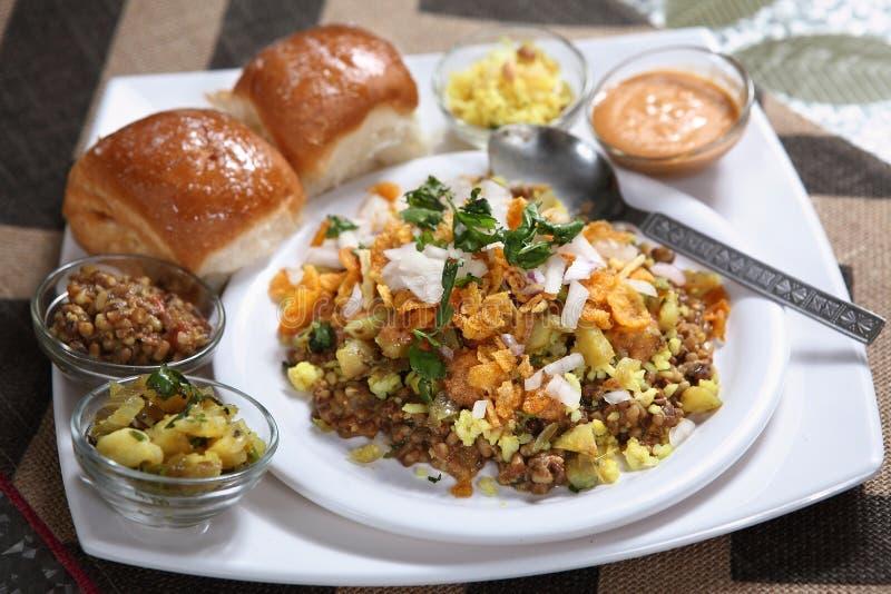 Misal Vada, Spiced вареник картошки стоковые фотографии rf