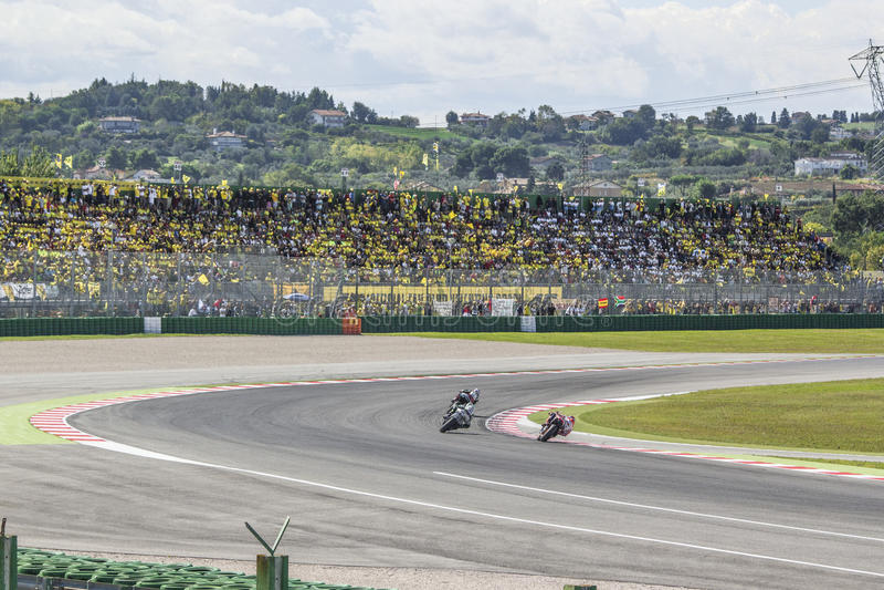 Misano MotoGP race. stock image