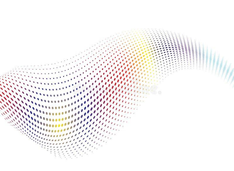 Miscela dell'onda del Rainbow illustrazione di stock