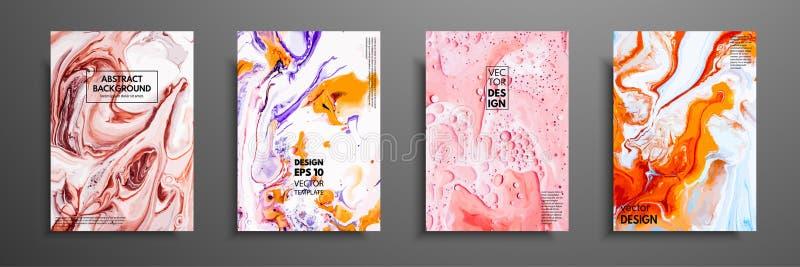 Miscela delle pitture acriliche Struttura di marmo liquida Arte fluida Applicabile per la copertura di progettazione, presentazio royalty illustrazione gratis