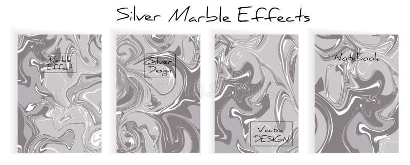 Miscela delle pitture acriliche Struttura di marmo liquida illustrazione vettoriale