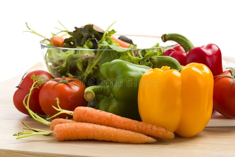 Miscela delle verdure su insalata fotografia stock