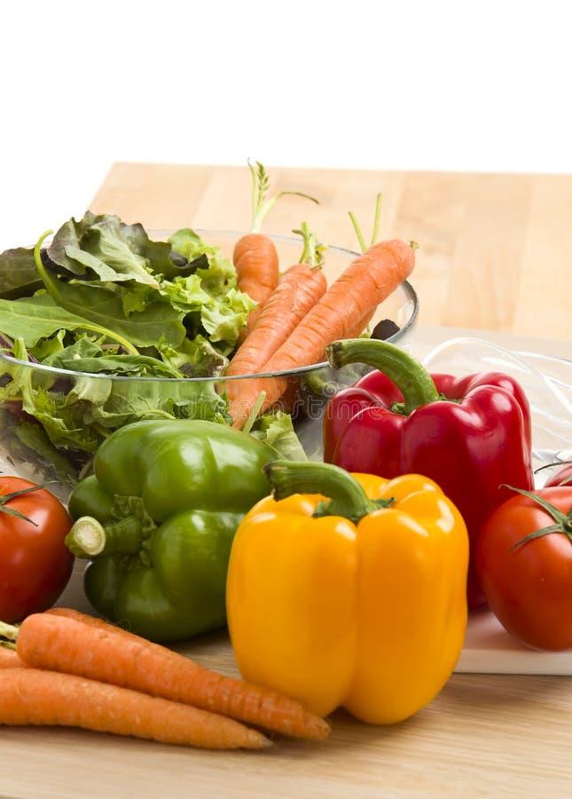 Miscela delle verdure su insalata fotografie stock