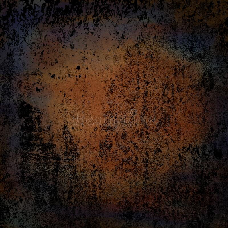 Miscela di colore blu Grunge Background Wallpaper black grunge illustrazione di stock