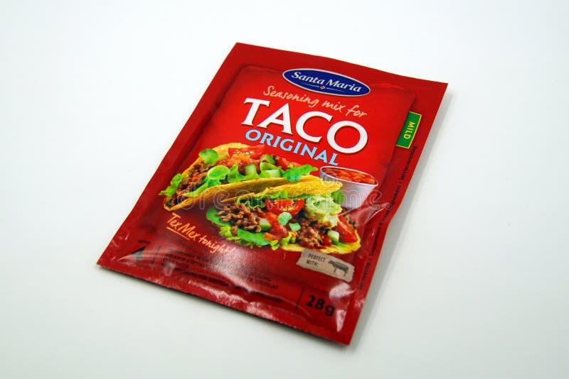 Miscela di Santa Maria Taco Original Seasoning immagini stock libere da diritti