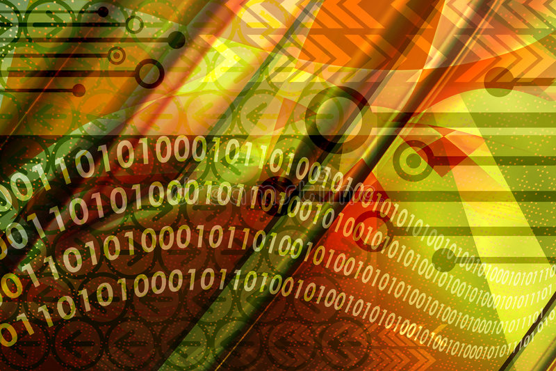 Miscela di tecnologie informatiche illustrazione di stock