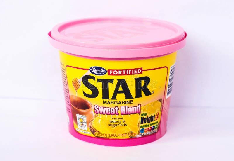 Miscela dolce della margarina della stella fotografia stock