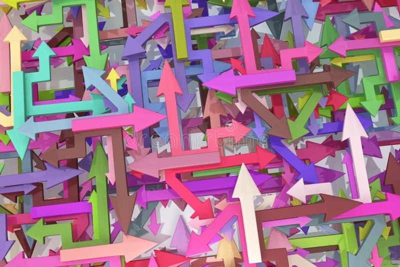 Miscela variopinta delle frecce illustrazione di stock