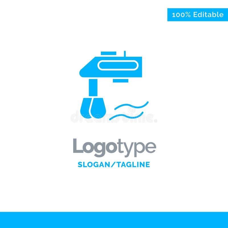 Miscelatore, cucina, manuale, affare blu Logo Template del miscelatore illustrazione vettoriale