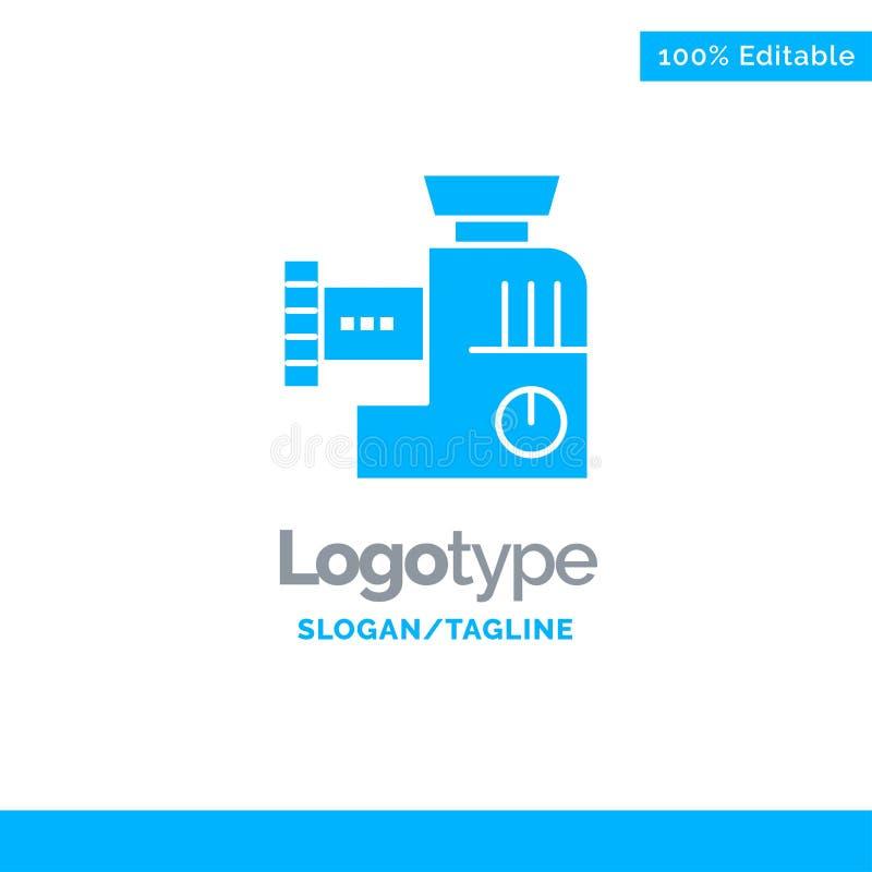 Miscelatore, cucina, manuale, affare blu Logo Template della miscela illustrazione vettoriale