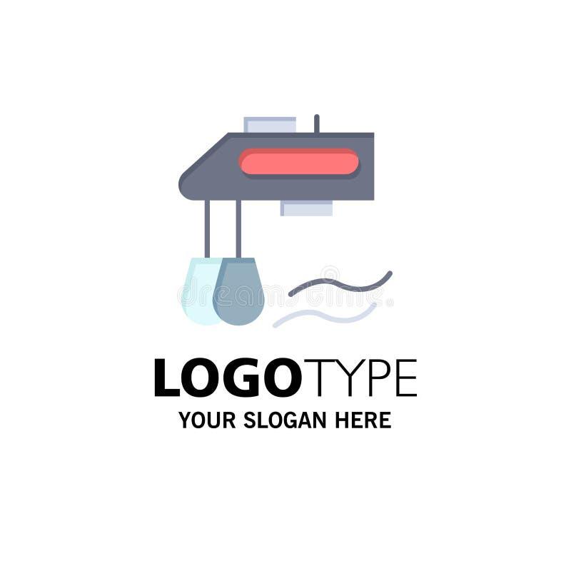 Miscelatore, cucina, manuale, affare Logo Template del miscelatore colore piano illustrazione di stock