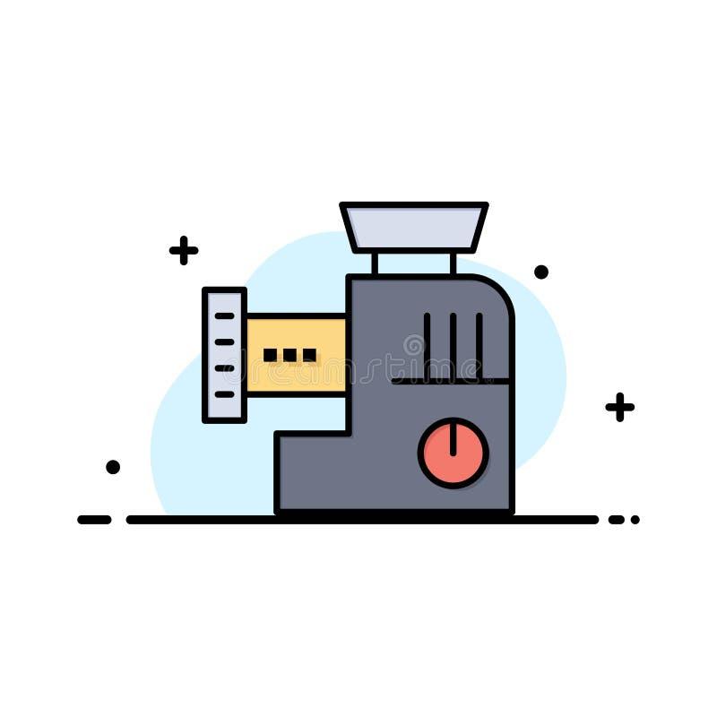Miscelatore, cucina, manuale, affare Logo Template della miscela colore piano illustrazione di stock