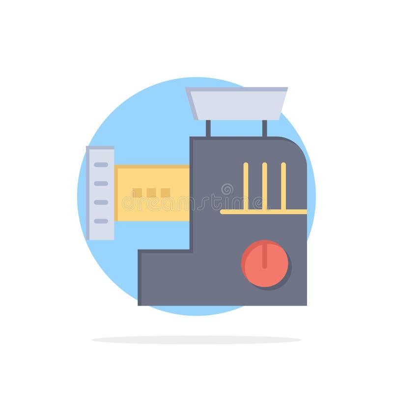 Miscelatore, cucina, manuale, icona piana di colore del fondo del cerchio dell'estratto della miscela illustrazione di stock