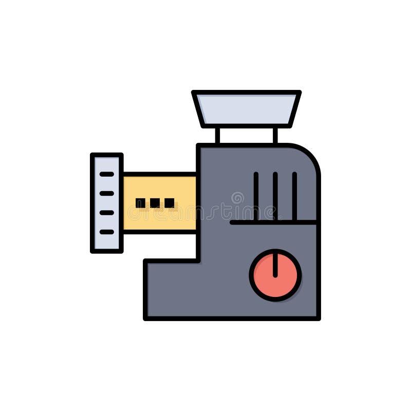 Miscelatore, cucina, manuale, icona piana di colore della miscela Modello dell'insegna dell'icona di vettore illustrazione di stock