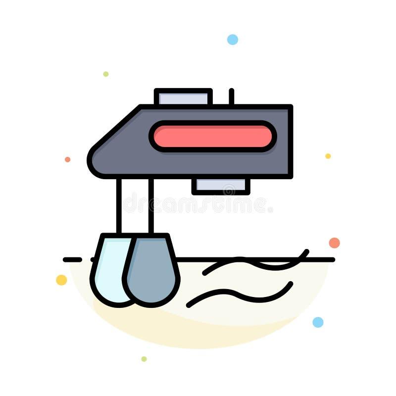 Miscelatore, cucina, manuale, modello piano dell'icona di colore dell'estratto del miscelatore illustrazione di stock