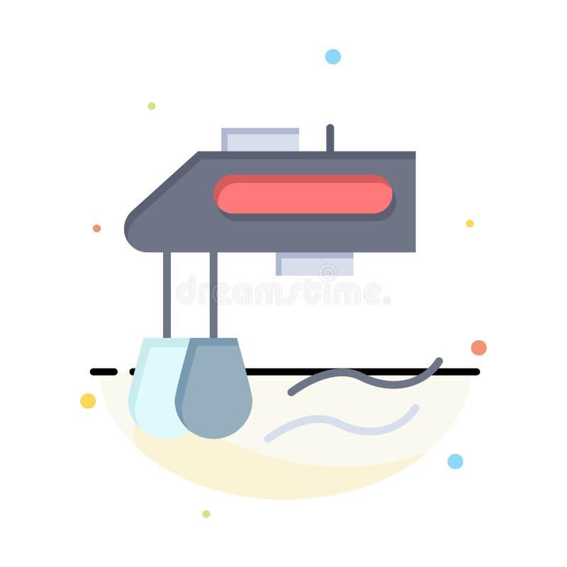 Miscelatore, cucina, manuale, modello piano dell'icona di colore dell'estratto del miscelatore royalty illustrazione gratis