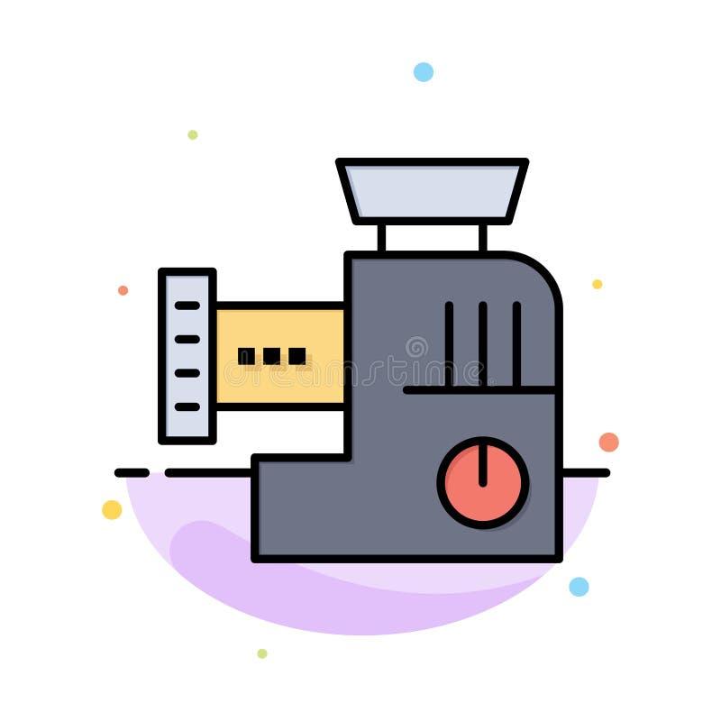 Miscelatore, cucina, manuale, modello piano dell'icona di colore dell'estratto della miscela illustrazione vettoriale