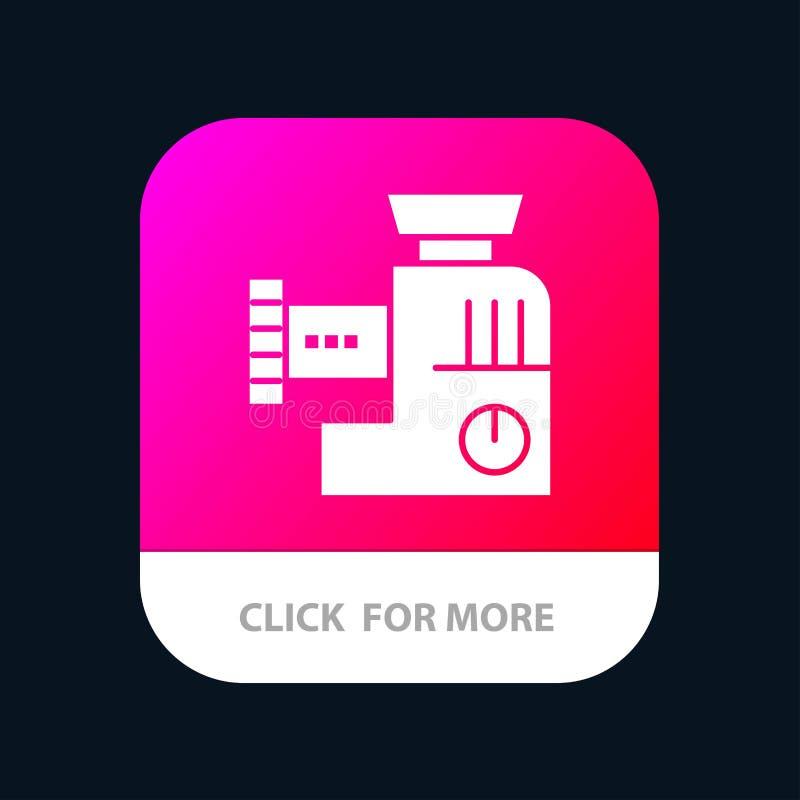 Miscelatore, cucina, manuale, progettazione mobile dell'icona del App della miscela illustrazione di stock