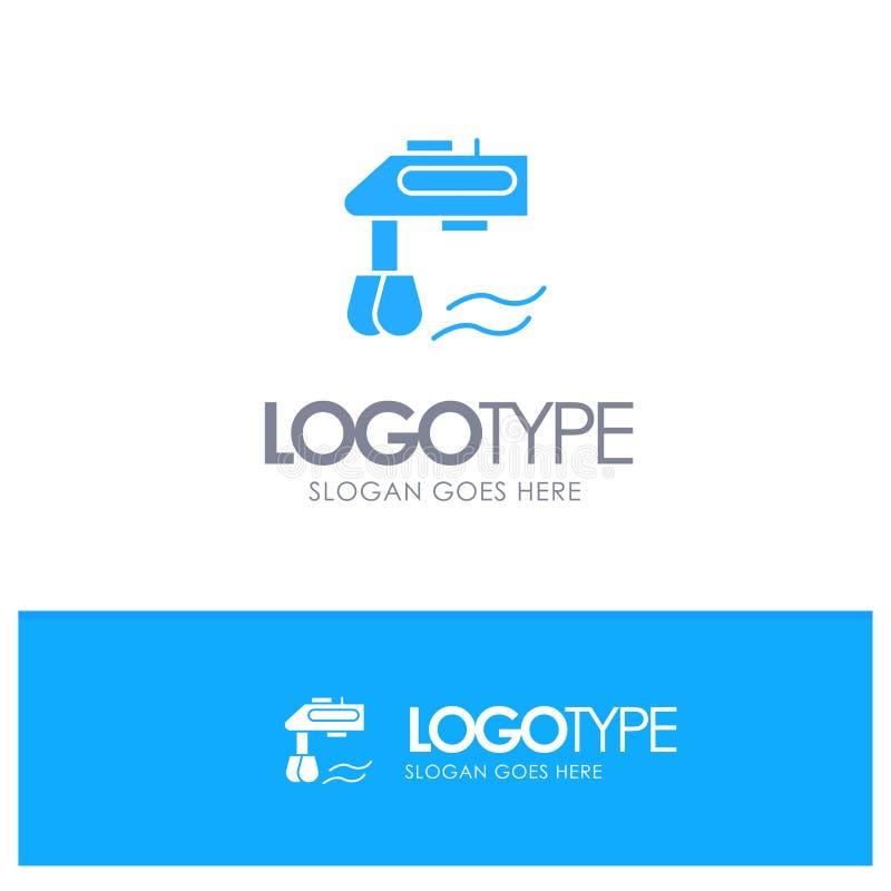 Miscelatore, cucina, manuale, vettore blu di logo del miscelatore royalty illustrazione gratis