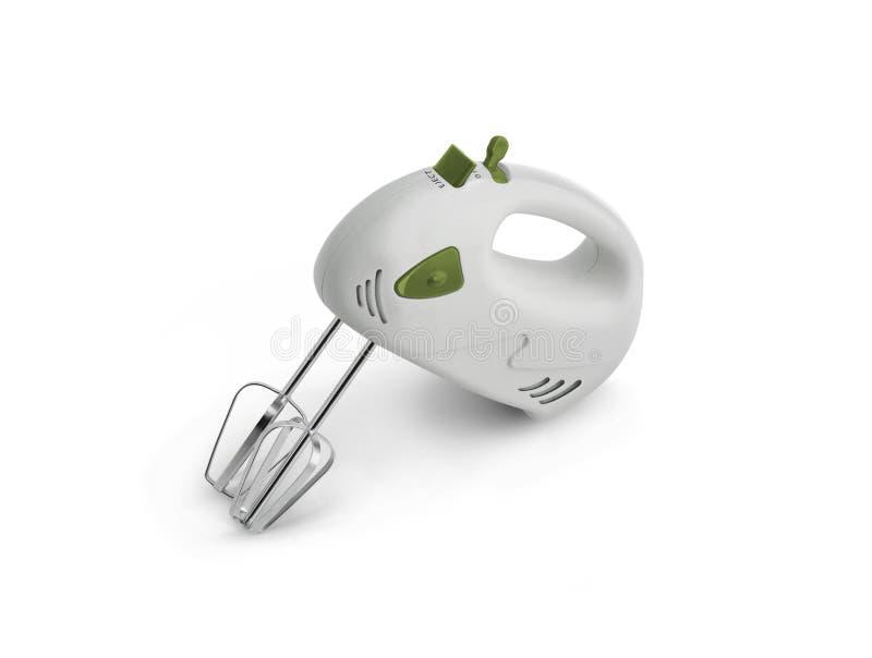 Miscelatore elettrico del minipimer su un fondo bianco immagini stock libere da diritti