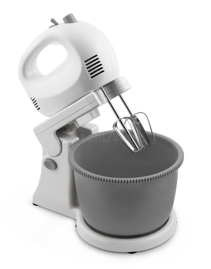 Miscelatore elettrico del minipimer su un fondo bianco fotografia stock libera da diritti