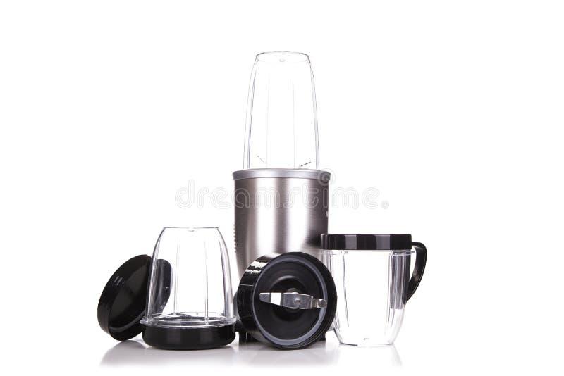 Miscelatore elettrico Elettrodomestico da cucina, attrezzatura isolata su bianco fotografie stock