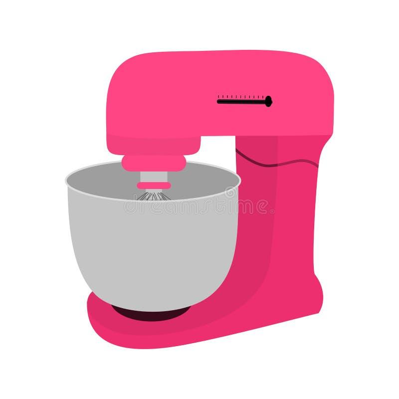 Miscelatore rosa della cucina con la ciotola royalty illustrazione gratis