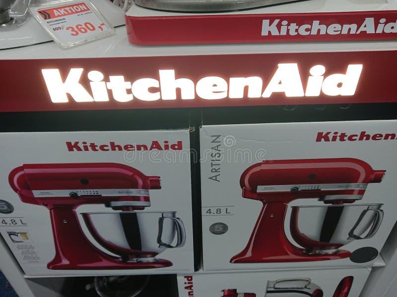 Miscelatori del supporto di KitchenAid fotografie stock libere da diritti