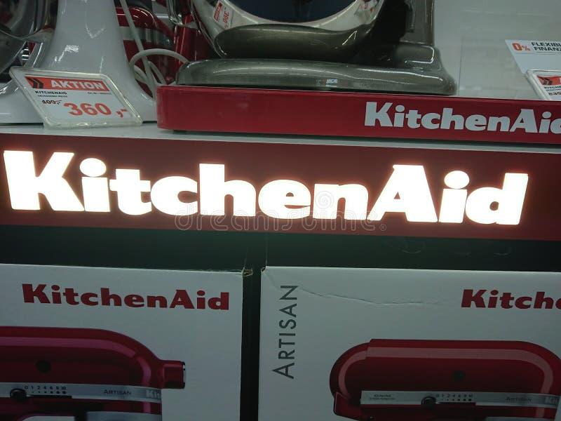 Miscelatori del supporto di KitchenAid fotografia stock