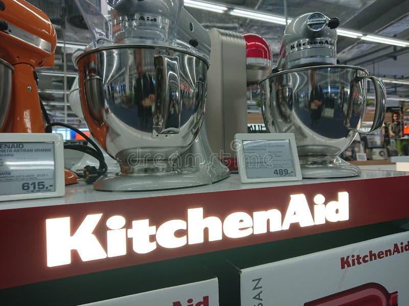 Miscelatori del supporto di KitchenAid immagine stock libera da diritti
