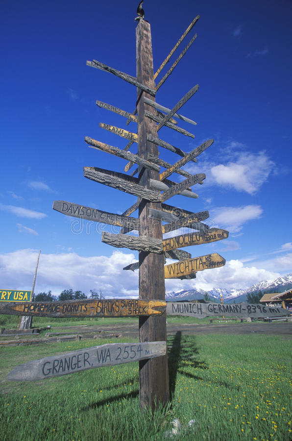 Download Miscellaneous Distance Signs Stock Image - Image: 26280833