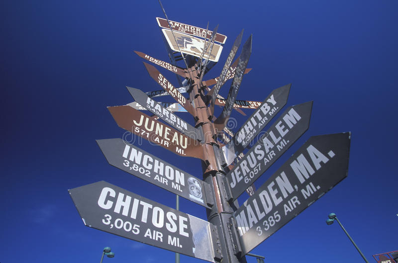Download Miscellaneous Distance Signs Stock Photo - Image: 26284484
