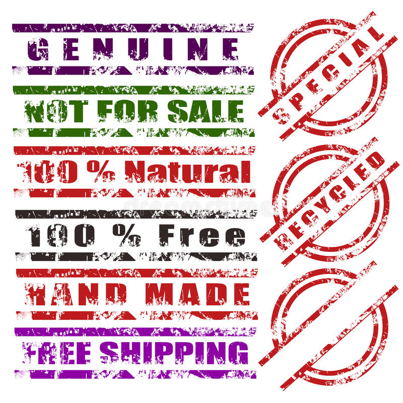 Download Miscellaneous Grunge Stamp Set Stock Illustration - Image: 25863114